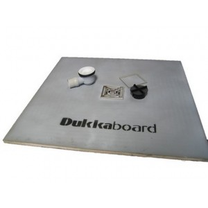 Dukkaboard 1.0m x 1.0m x 20mm square shower tray