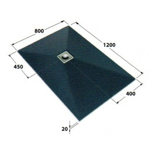 Dukkaboard 1.2m x 0.8m x 20mm oblong showertray