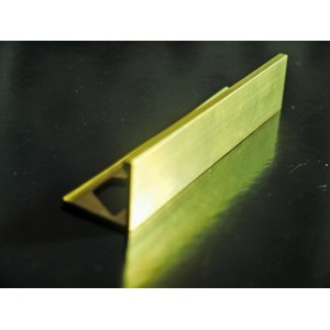 25mm brass square edge tile trim