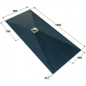 Dukkaboard 1.8m x 0.8m x 25mm showertray