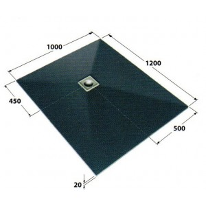 Dukkaboard oblong 1.2m x 1.0m x 20mm showertray