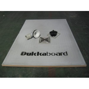 Dukkaboard 1.2m x 0.9m x 20mm oblong shower tray