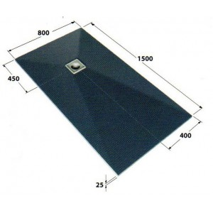 Dukkaboard 1.5m x 0.8m x 25mm showertray