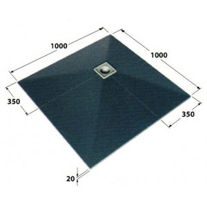 Dukkaboard 1.0m x 1.0m x 20mm shower tray with offset drain