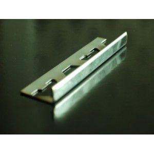 15mm x 2.5 metres square edge stainless/steel tile trim