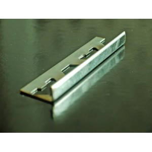 25mm x 2.5 metres Square Edge stainless steel tile trim